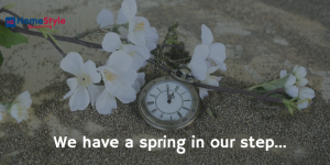 With a Spring in Our Step